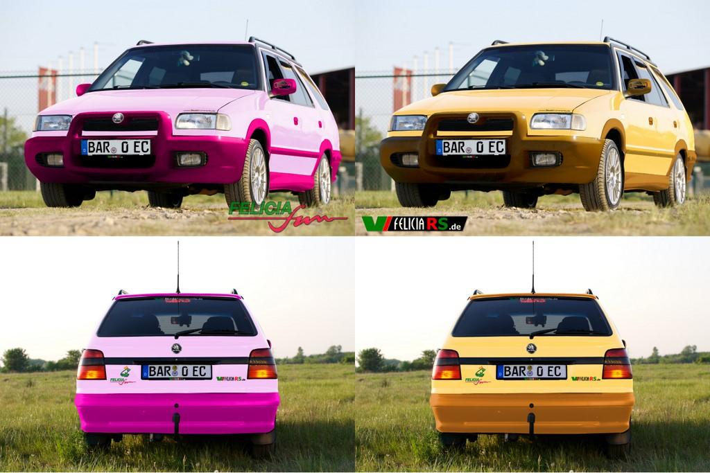 Pink oder Gelb was gefällt euch besser am Felicia FUN Combi?