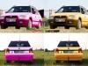 Collage Gelb und Pink