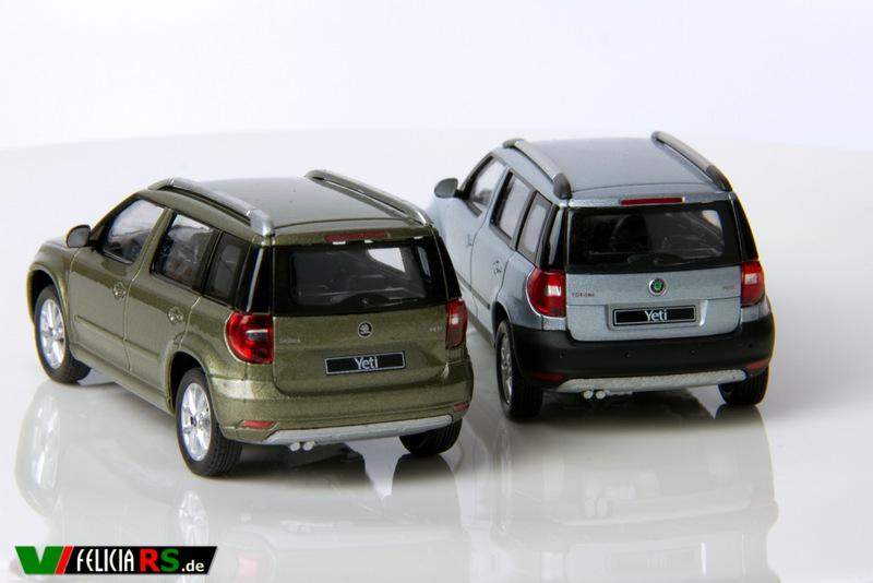 Vergleich Yeti Facelift und Vorfacelift von hinten.