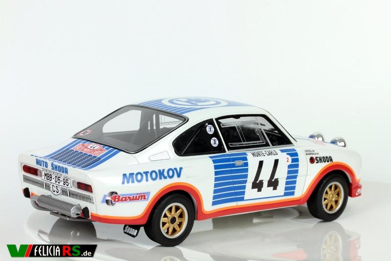 Škoda 130RS 1977 Rallye Monte Carlo 44 FOXtoys/AirDESIGN 1:18