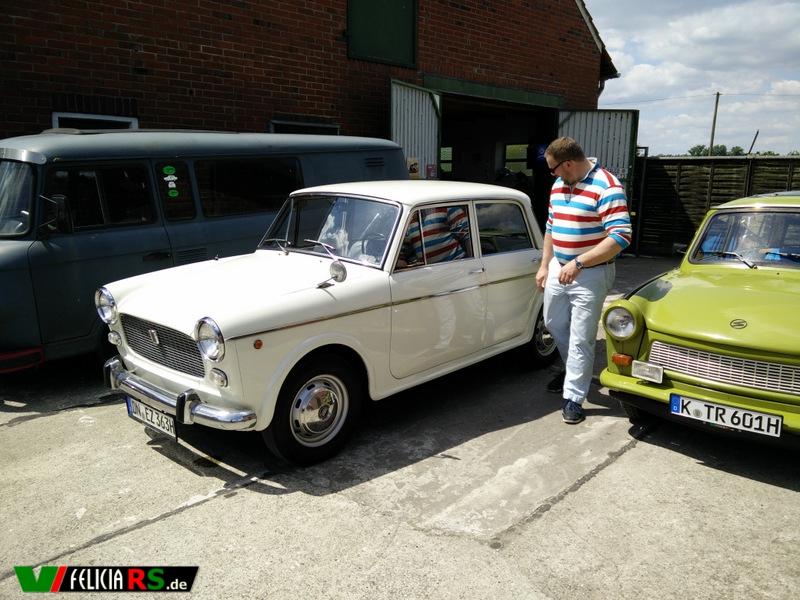 Randolfs Fiat 1100D unser Gefährt für die Heimfahrt.